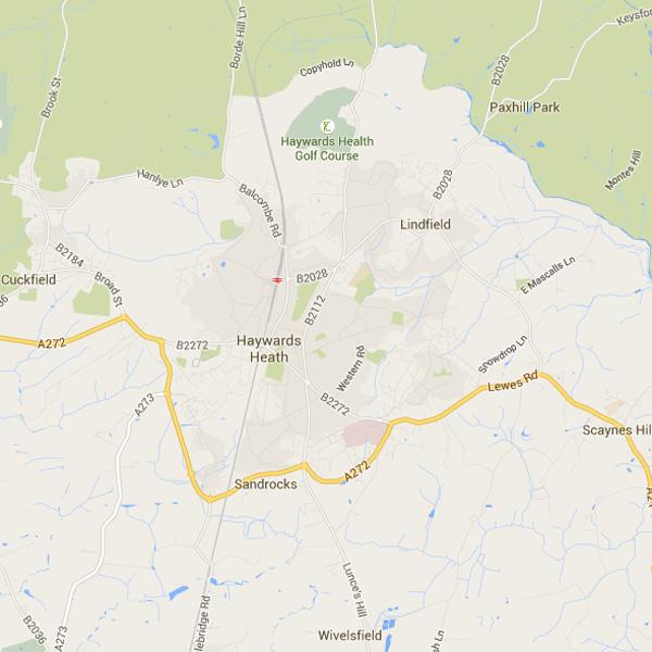 Writers on the Heath - Haywards Heath Map